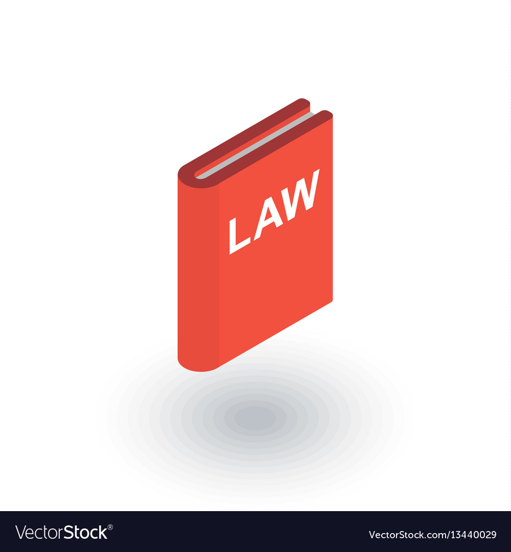 Law book justice isometric flat icon 3d vector image