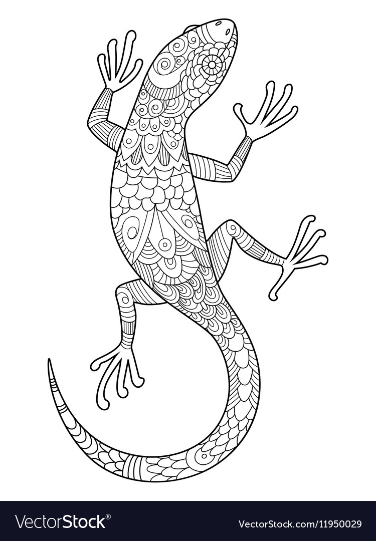 Printable Lizard Coloring Pages - StPeteFest.org | 1080x750
