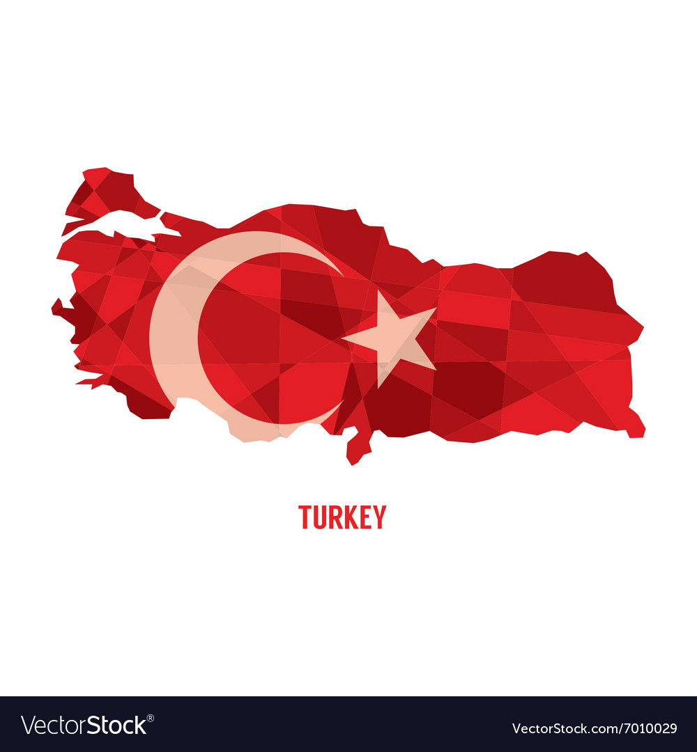 Map of Republic Of Turkey Royalty Free Vector Image