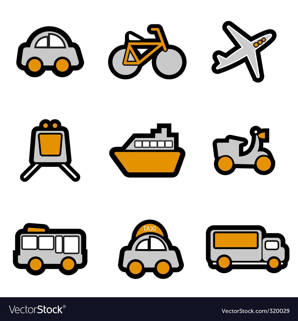 Vehicles icon vector image