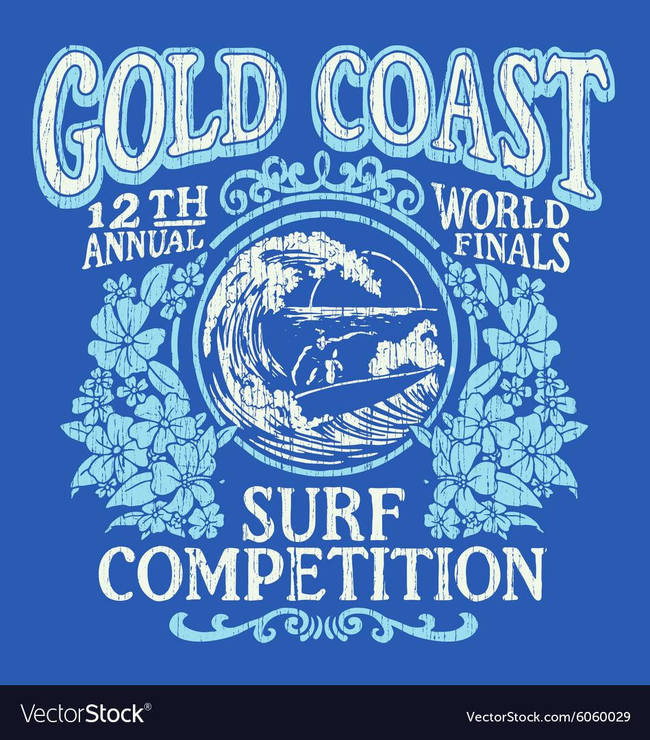 Vintage Surfing Tshirt Graphic Design