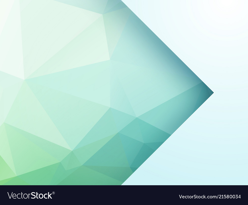 Abstract green geometric background with arrow