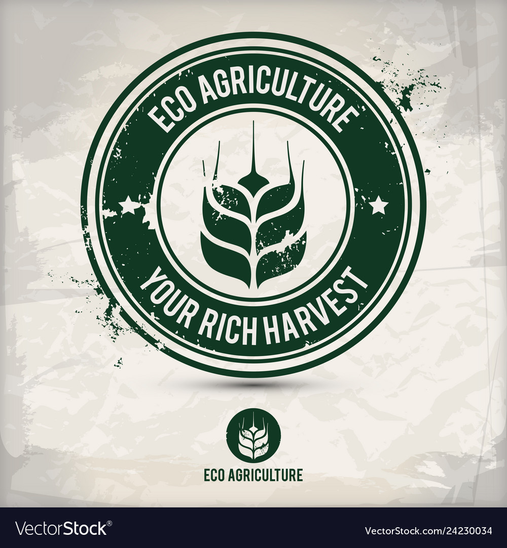 Alternative eco agriculture stamp