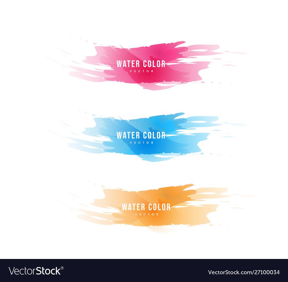 Colorful watercolor design