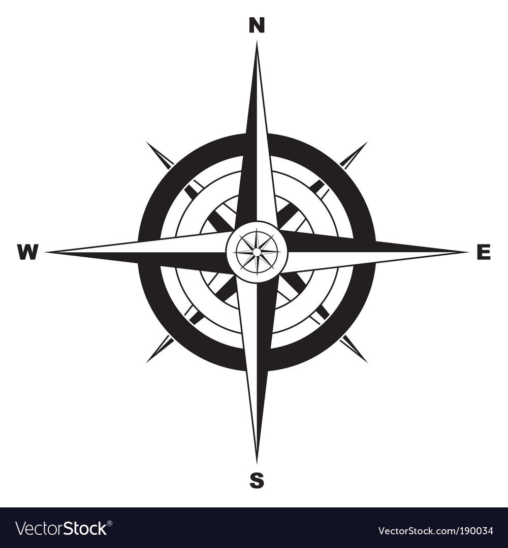 compass icon royalty free vector image vectorstock