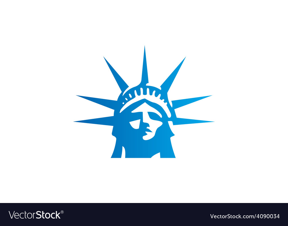 Liberty statue head freedom logo