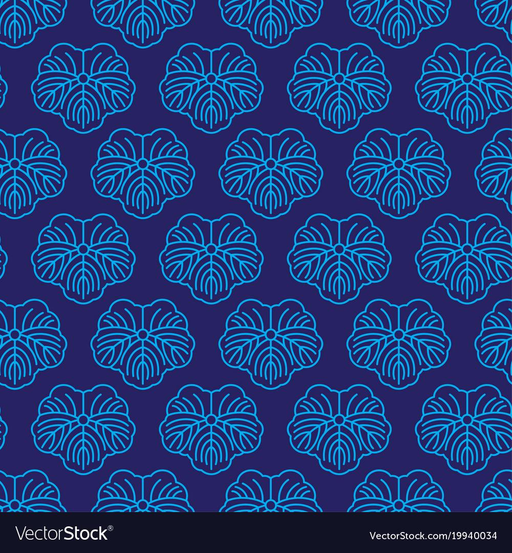 Seamless pattern japanise blue ornament