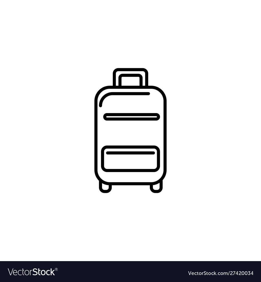 Suitcase equipment summer icon line vector