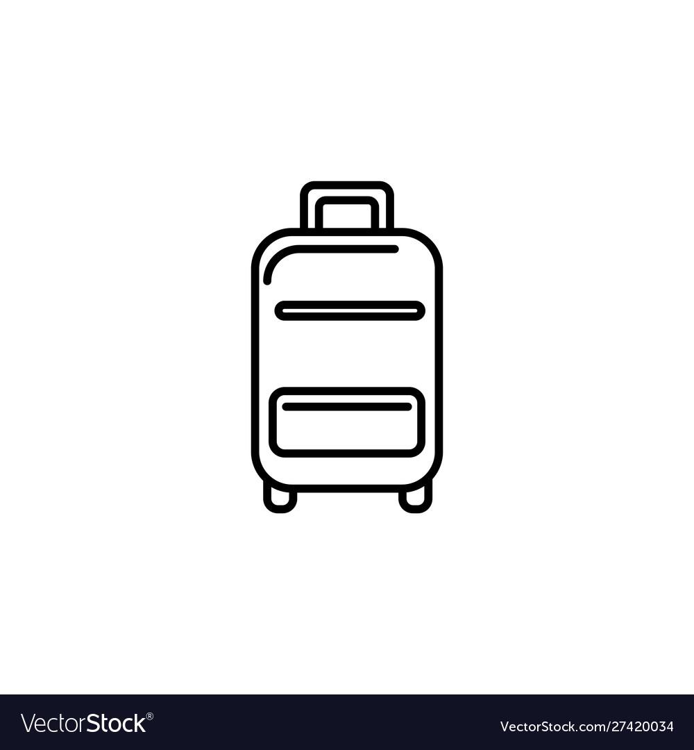 Suitcase equipment summer icon line
