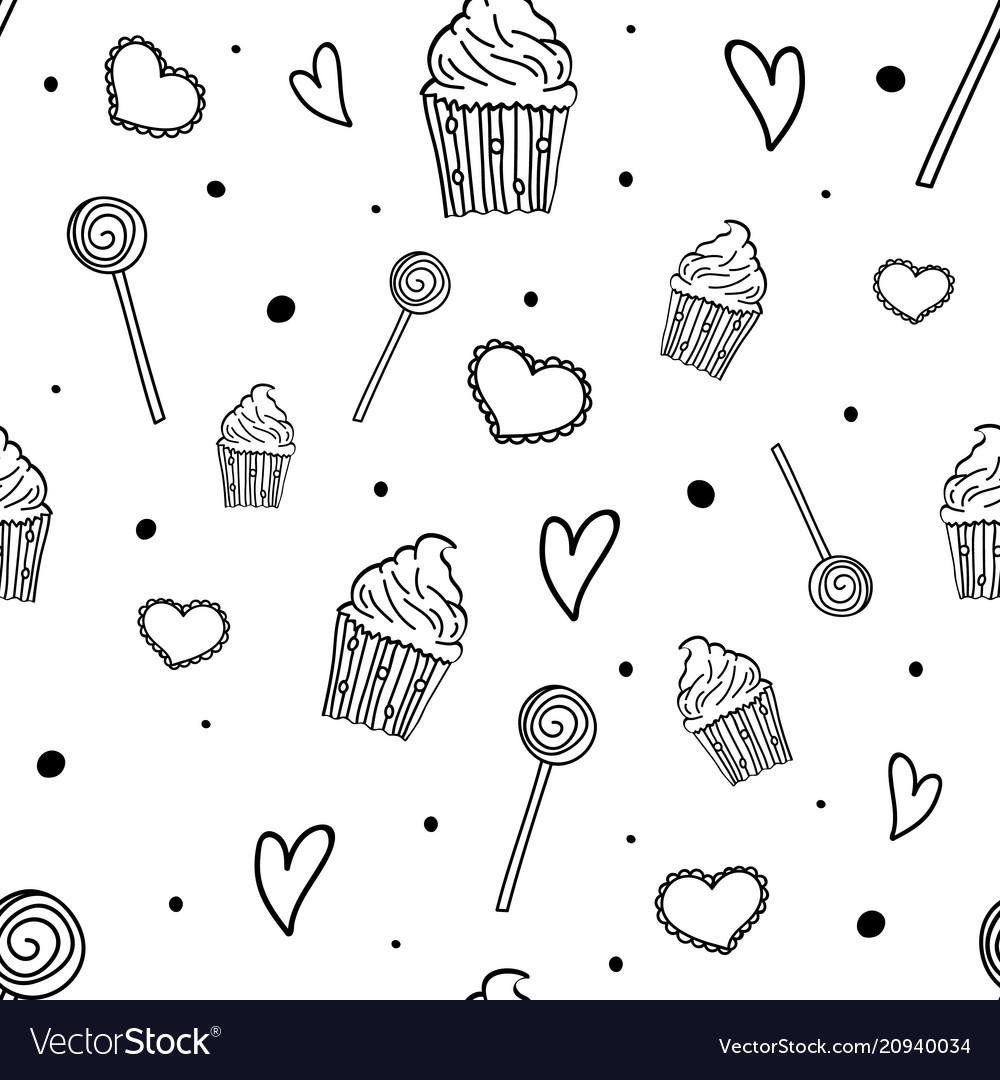 Sweet pattern seamless pattern with sweets
