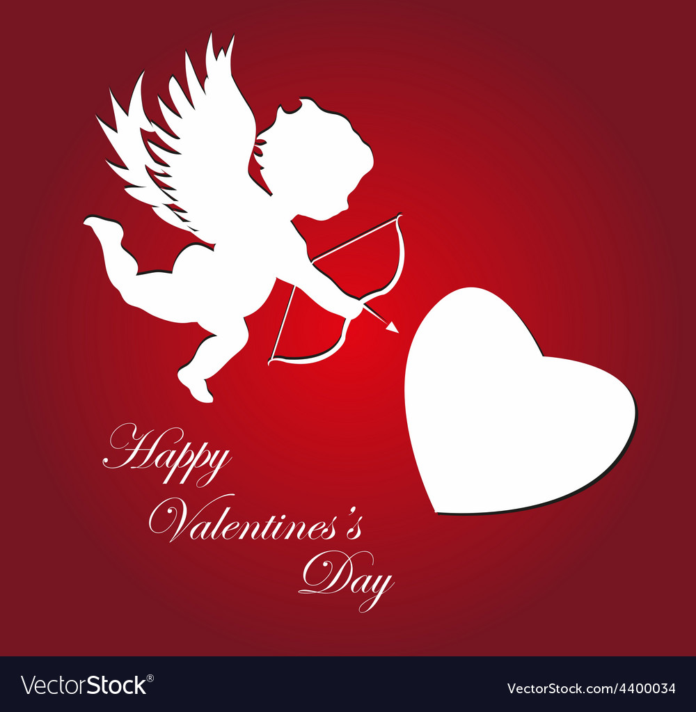 Valentines day cupid background