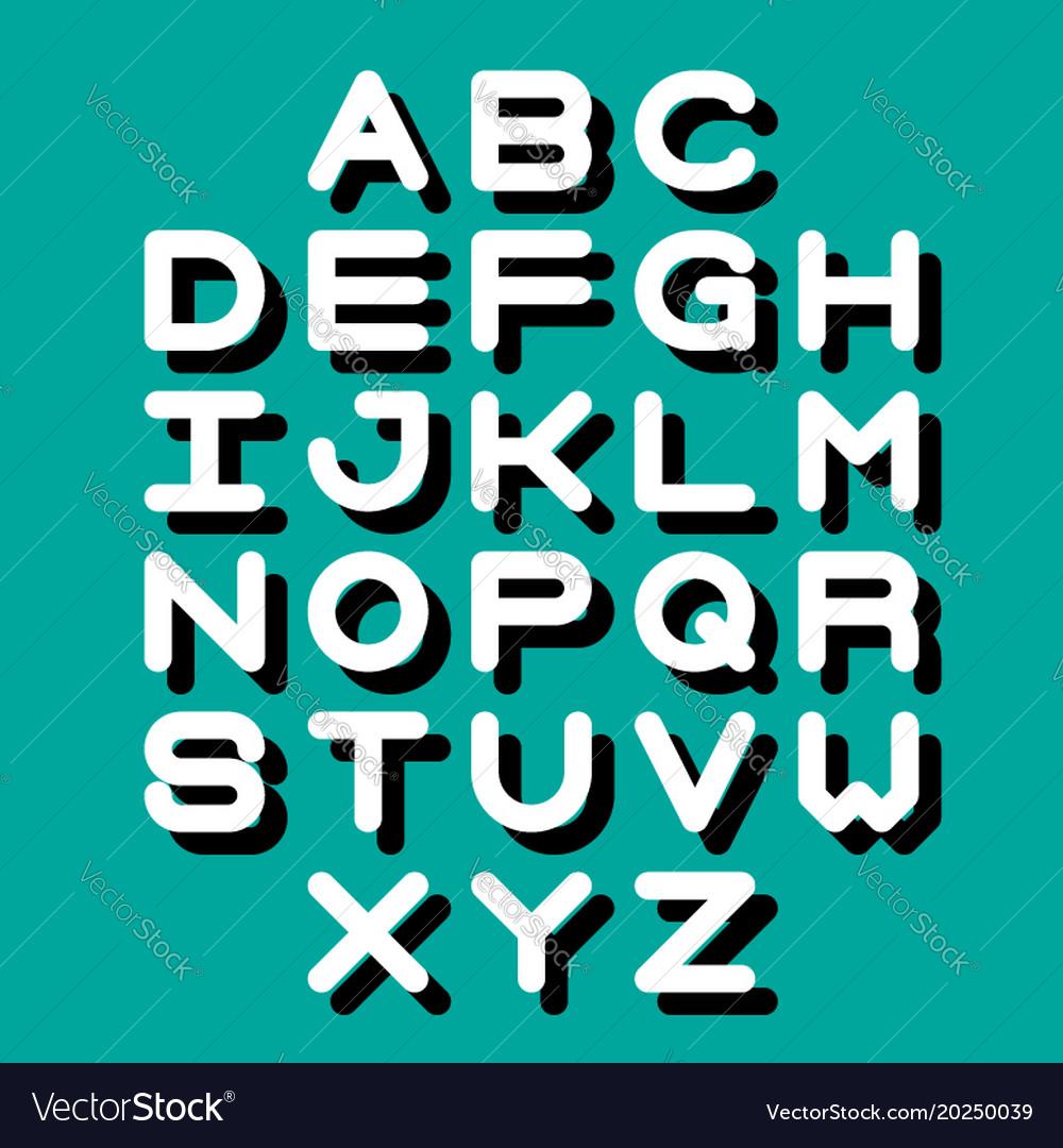 3d font and alphabet
