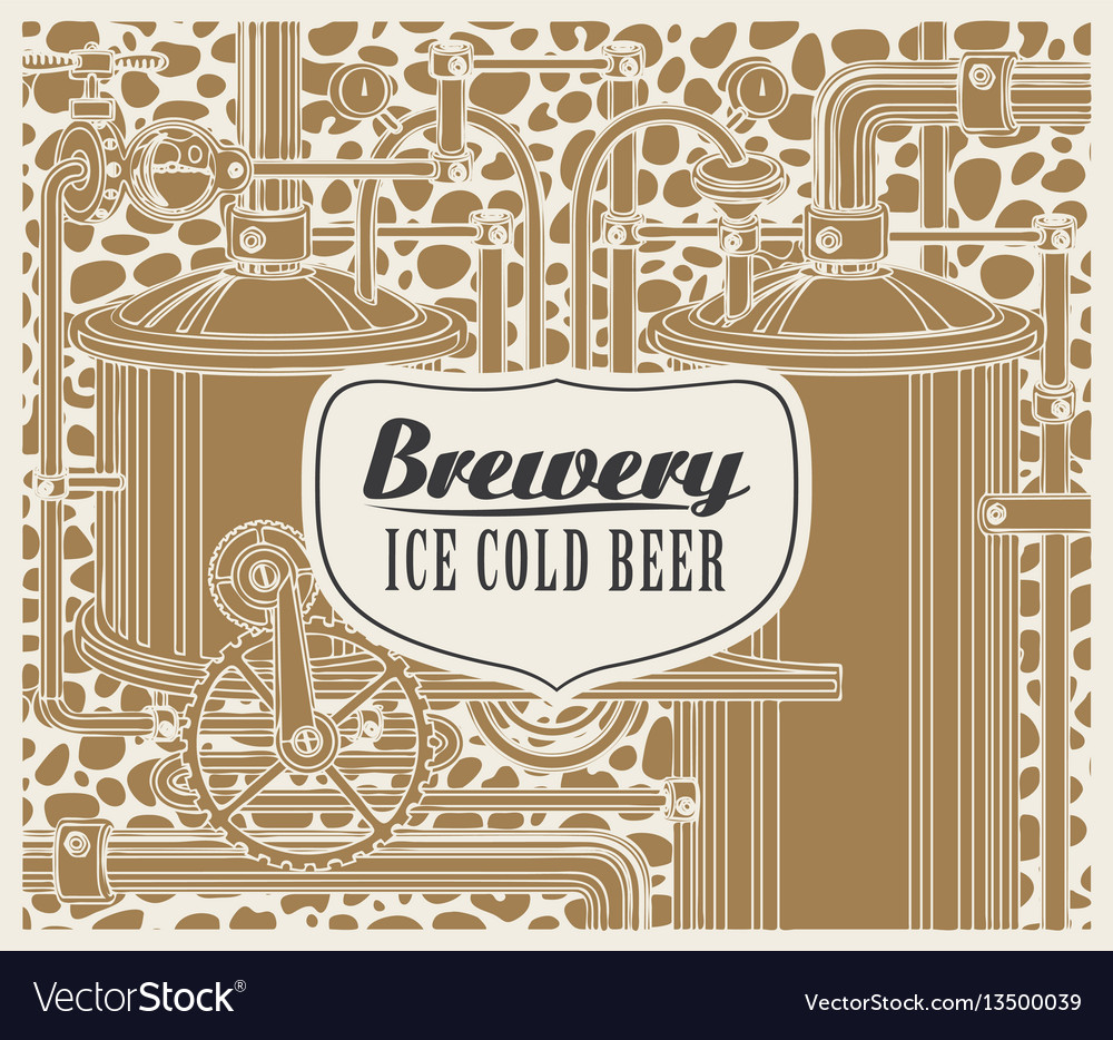Banner with the brewery