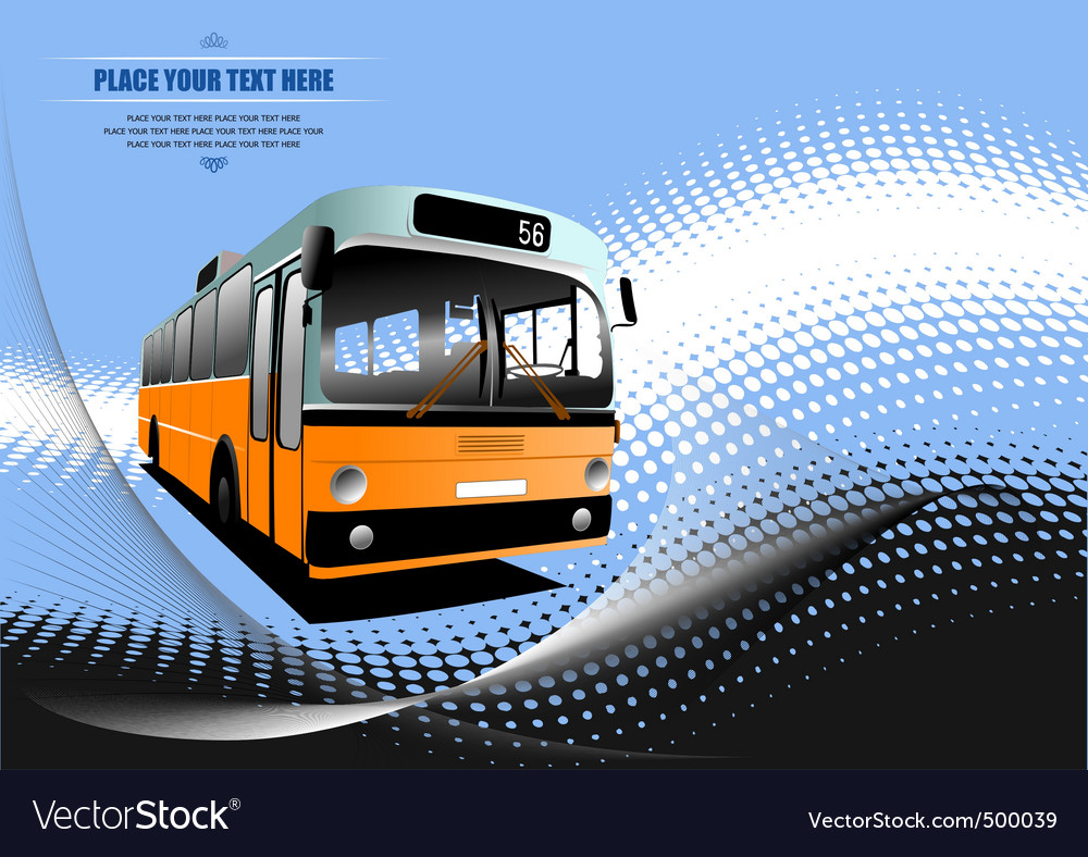 Bus background vector image