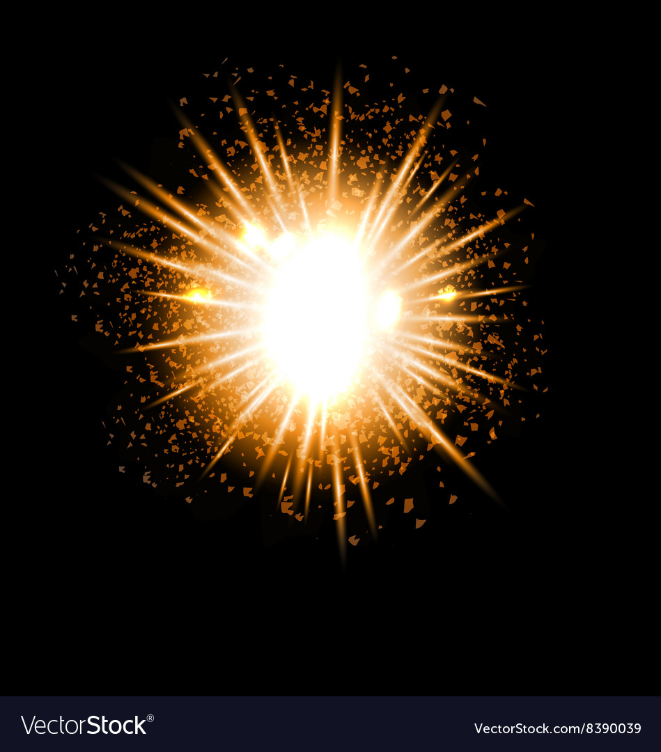Explosion fireworks powerful bright ray
