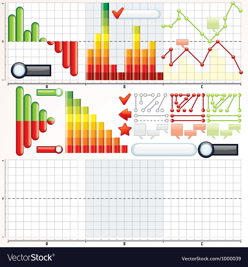 infographic charts graphs templates royalty free vector