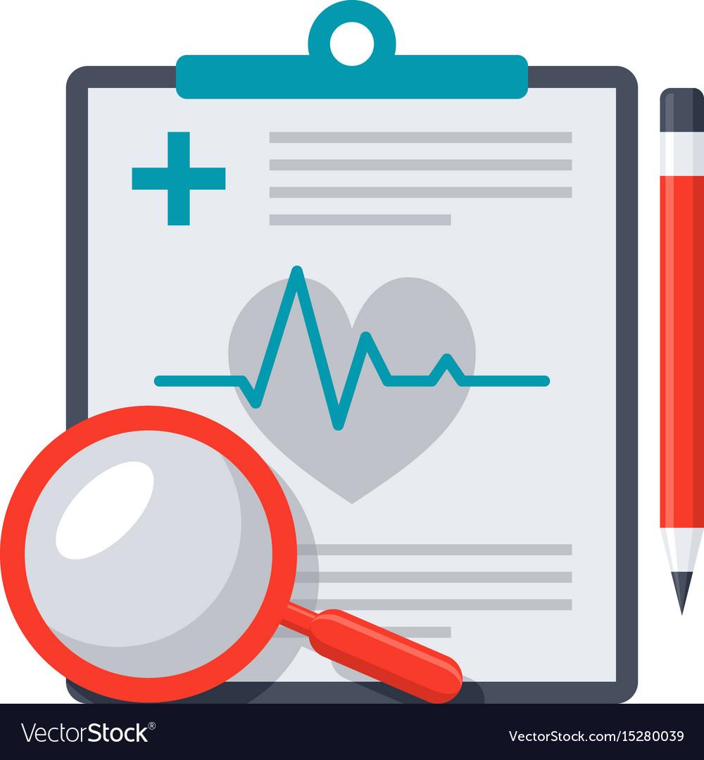 Medical diagnostic icon vector image