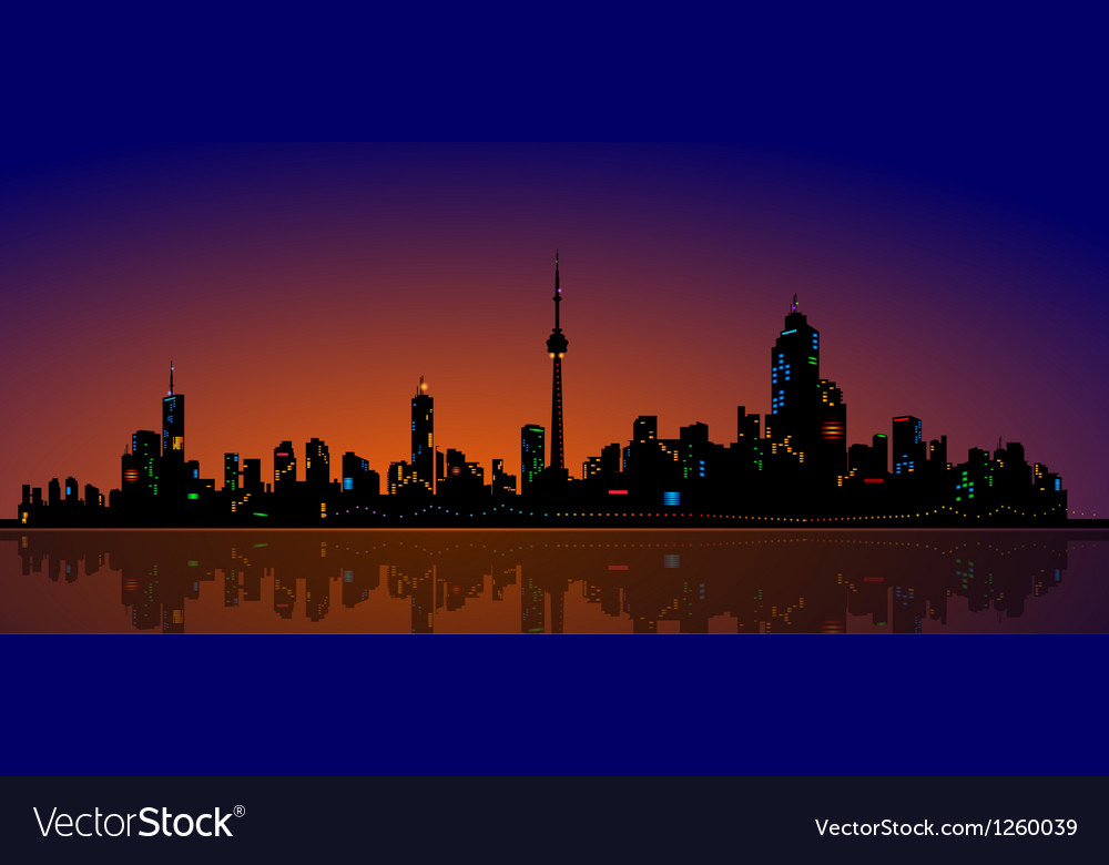 North American Metropolis Skyline Urban City View