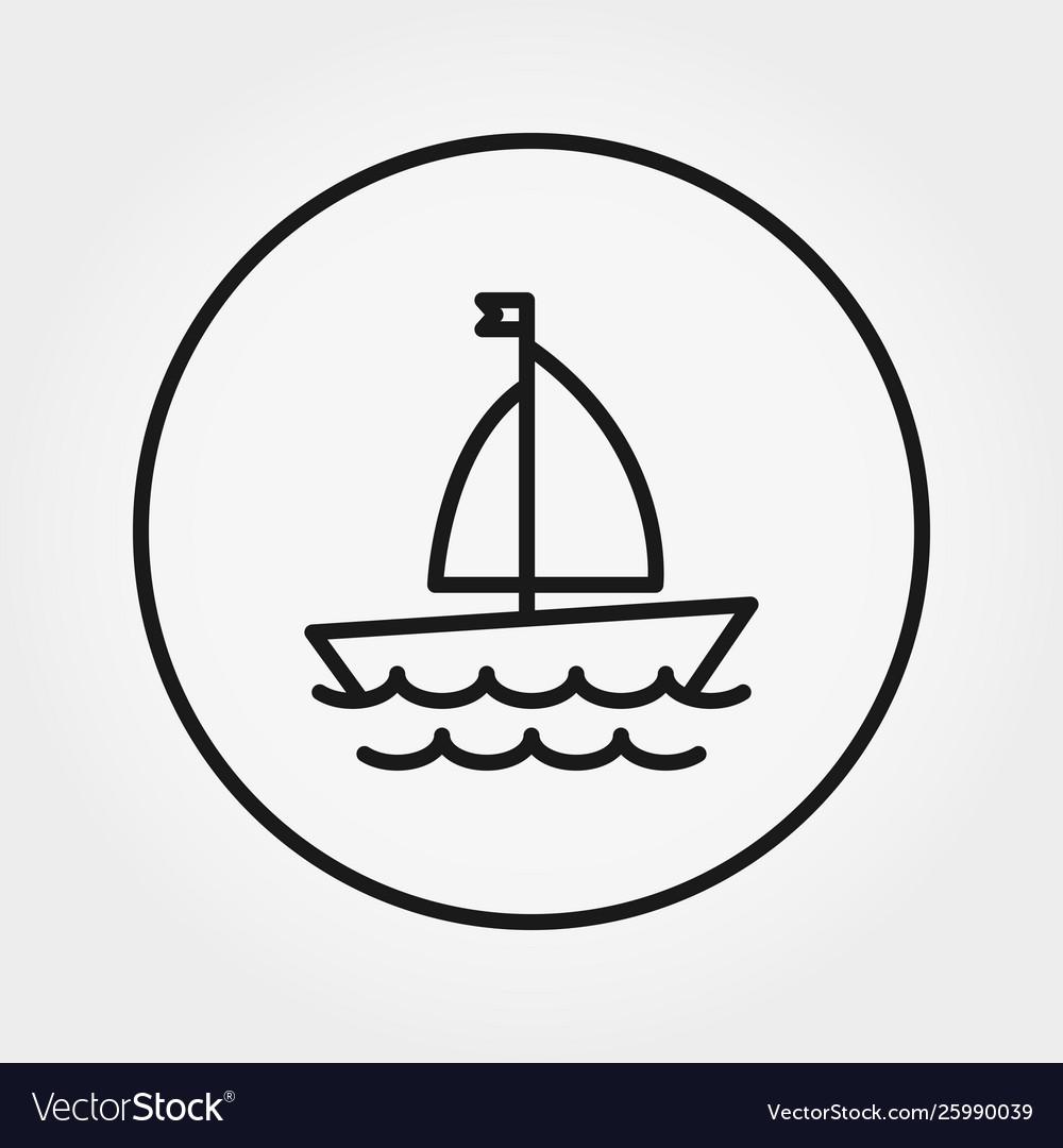 Sailboat universal icon editable thin