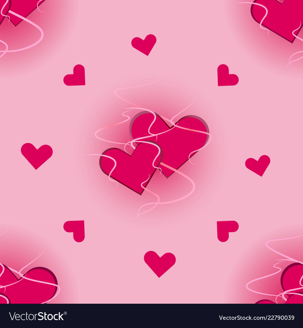 Seamless pattern of hearts for web design