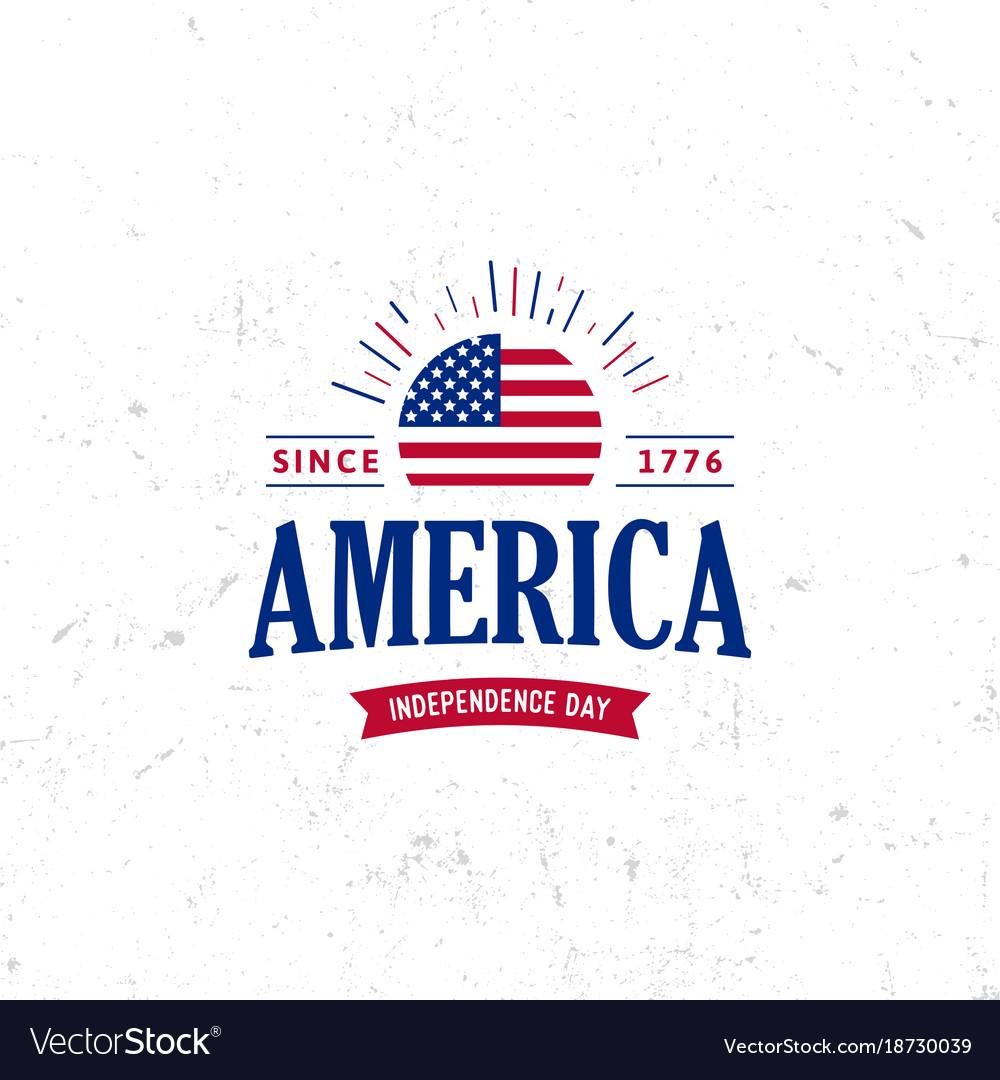United states of north america logo vintage