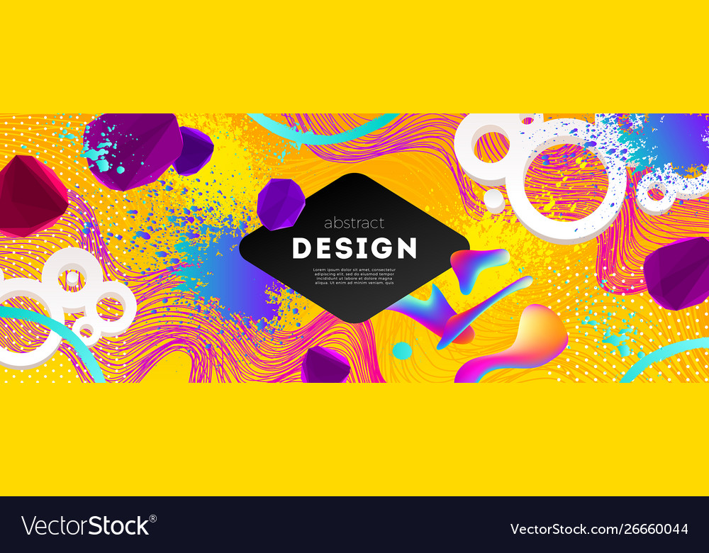 Abstract design with multicolored shapes