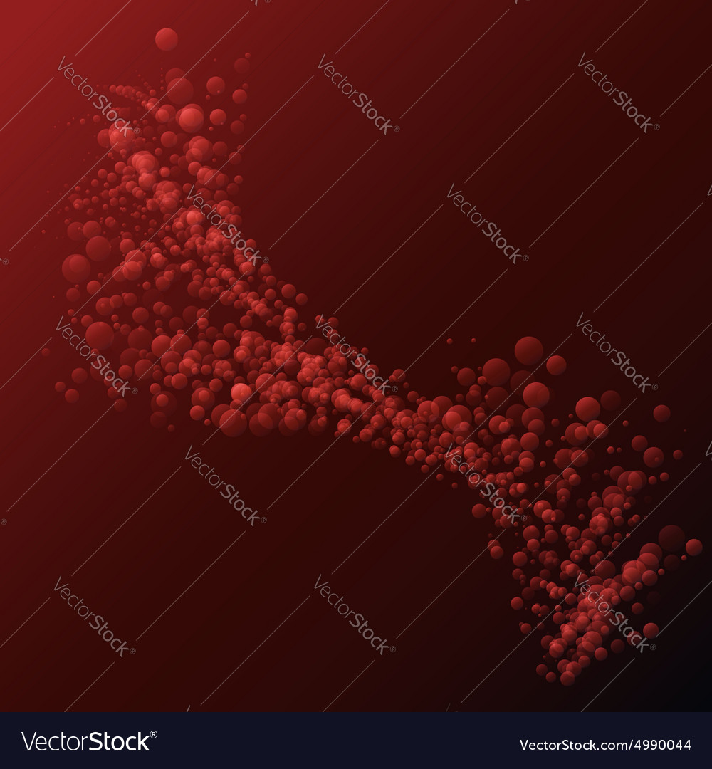 Abstract red small bubbles wave background