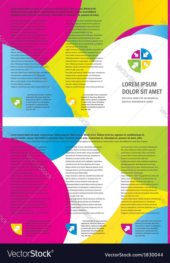 Brochure Design Template circle colorful vector image