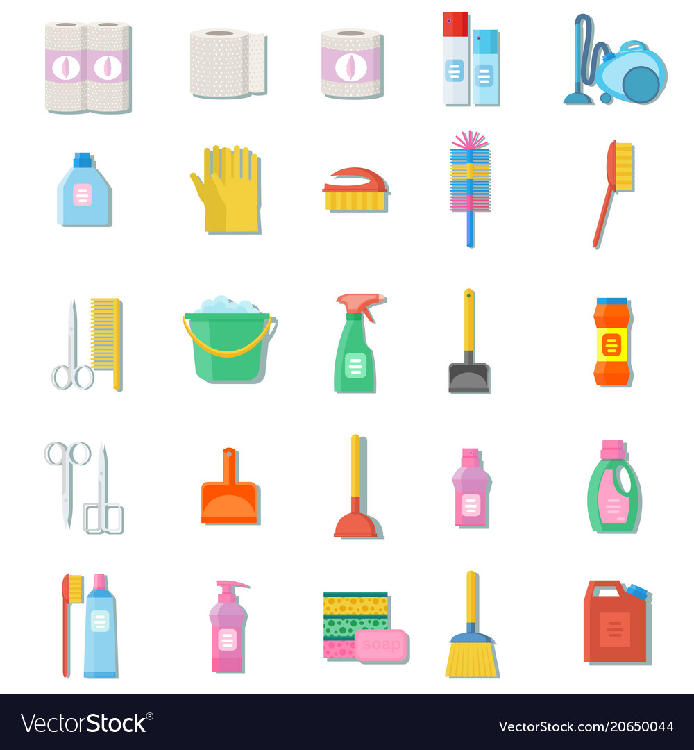 Cleaning icon set professional maid service vector image