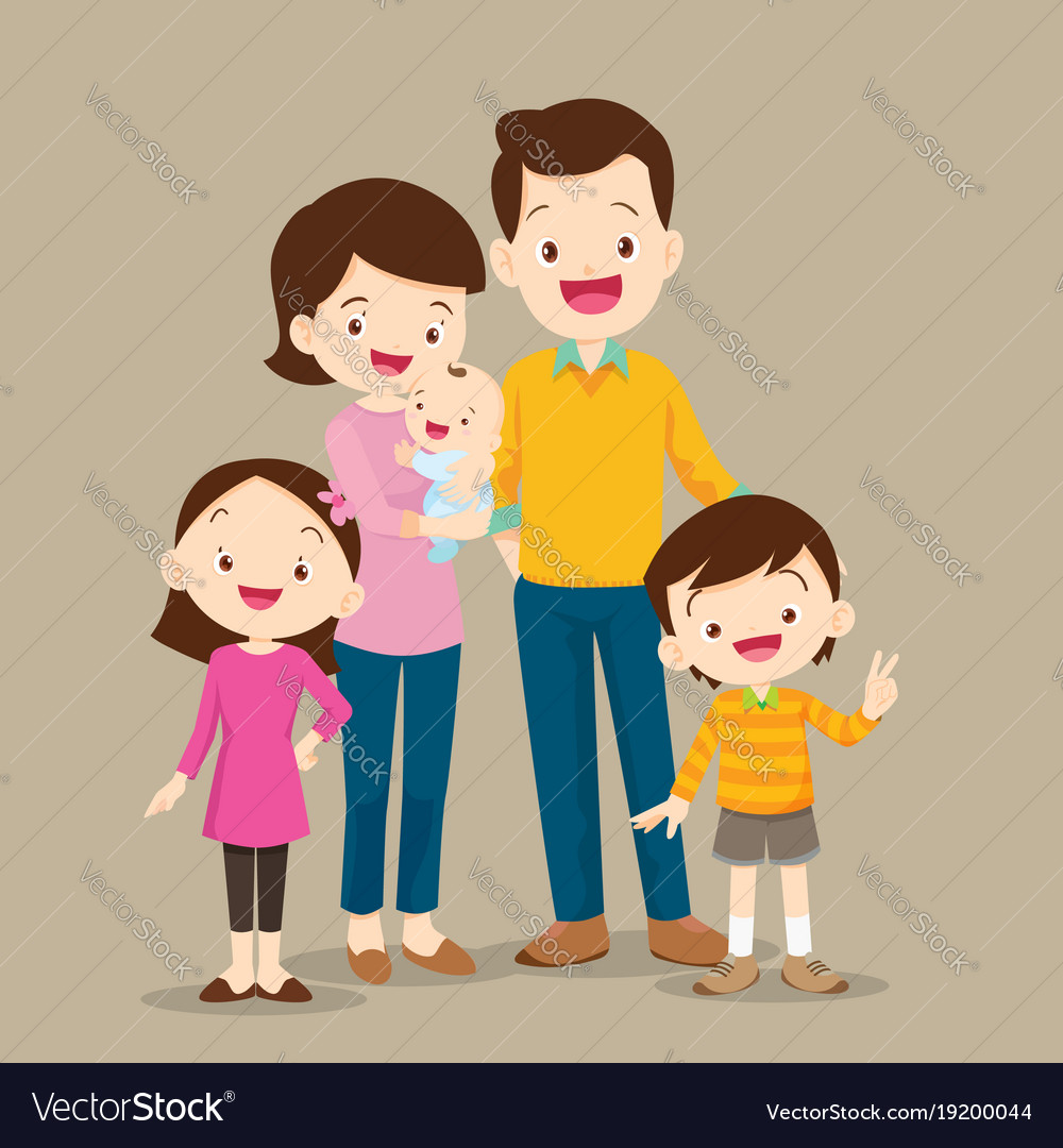 Cute family with baby