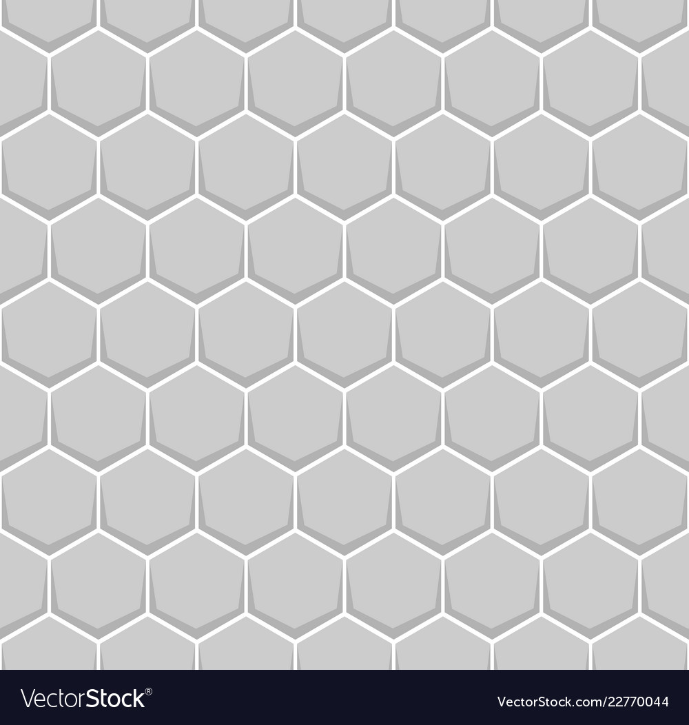Gray hexagon of honeycomb brick pattern seamless