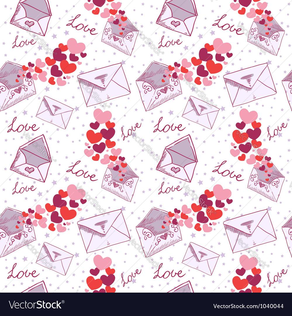Love letter valentine seamless texture