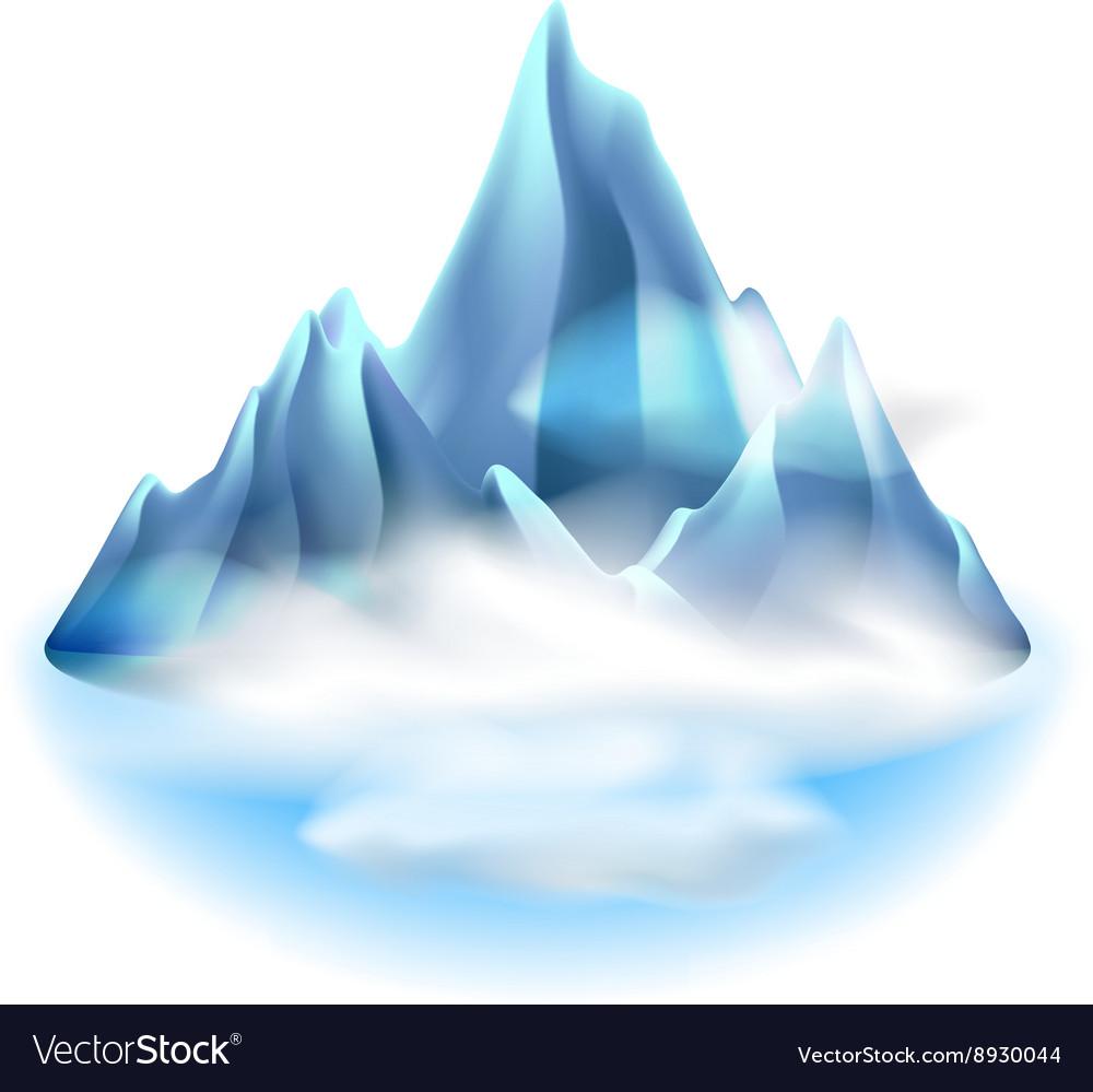 Mountains icon isolated on white