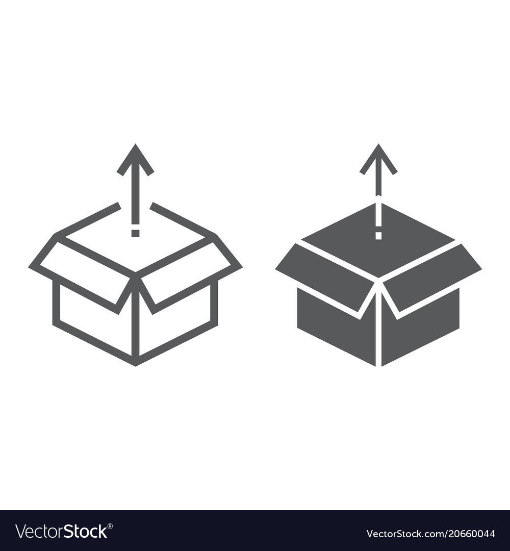 Product release line and glyph icon development vector image