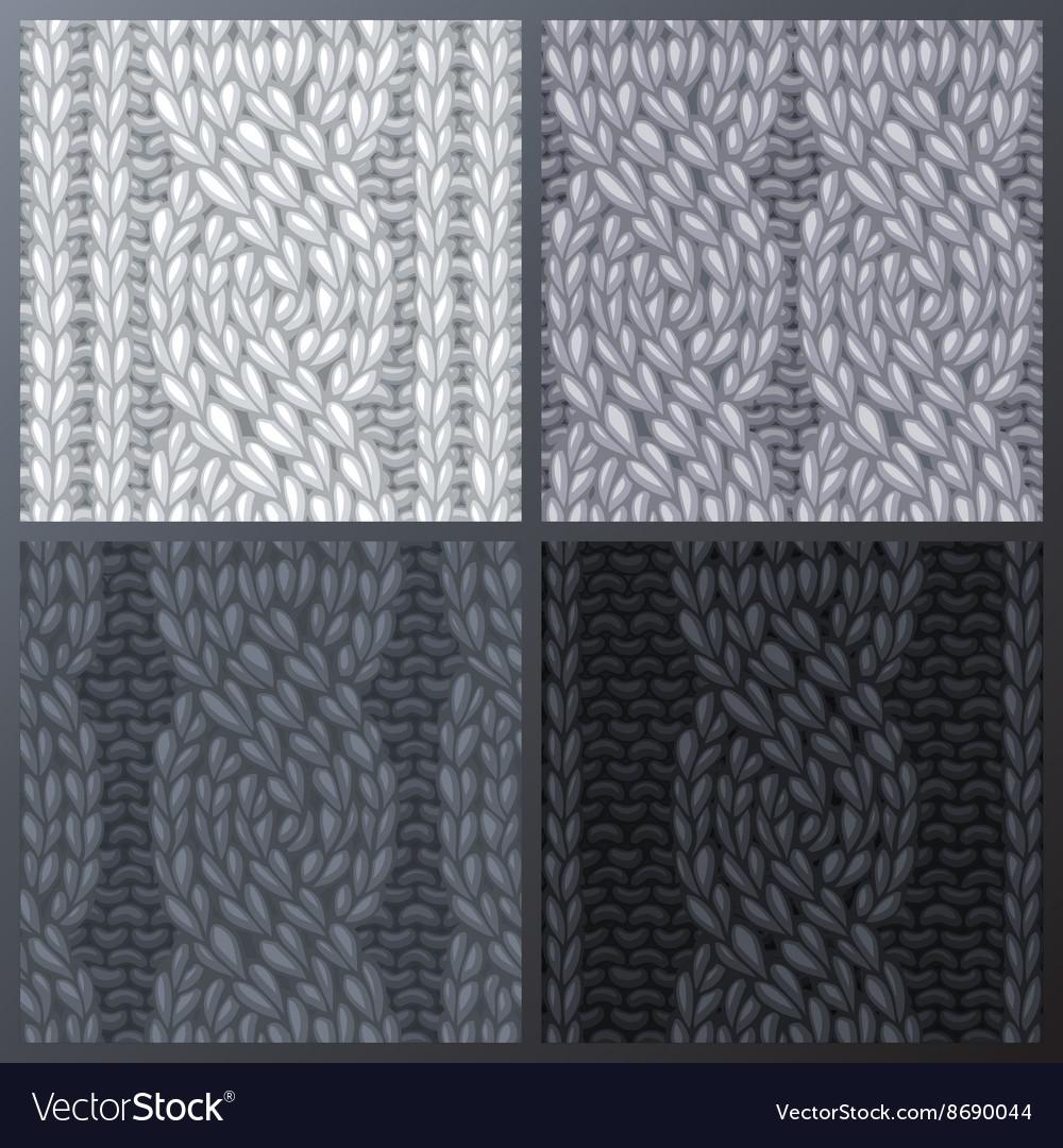 Set of Seamless Six-Stitch Cable Stitch Patterns
