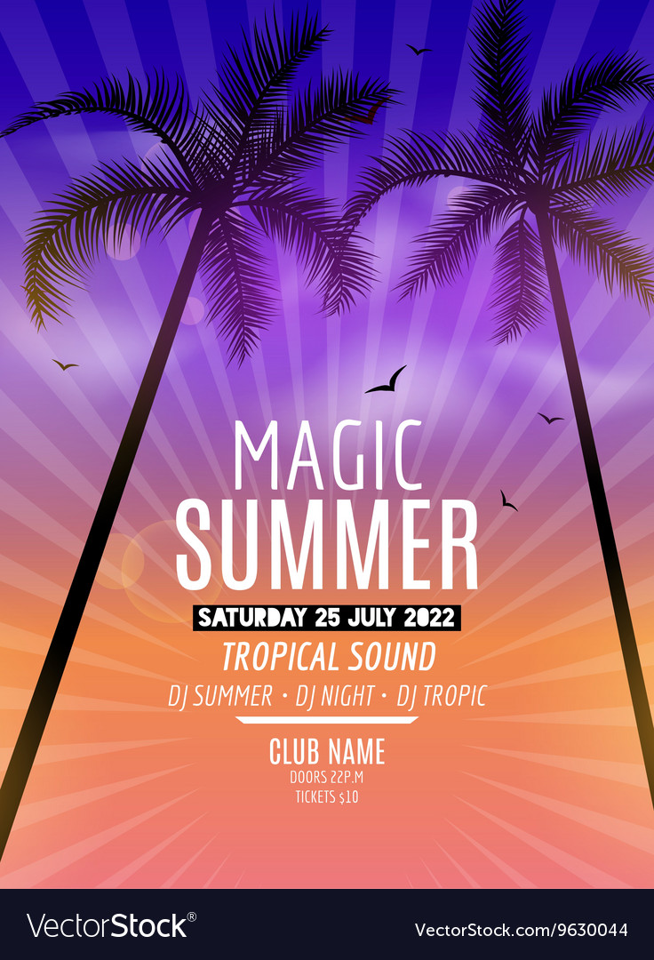 Tropic Summer Beach Party Tropic Summer vacation
