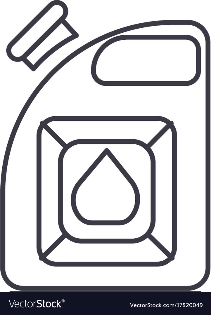 Auto fuel line icon sign on vector image
