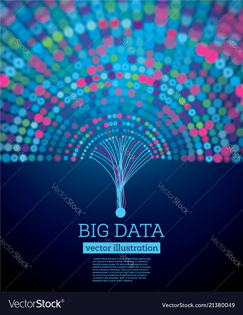 Big data futuristic science background with copy