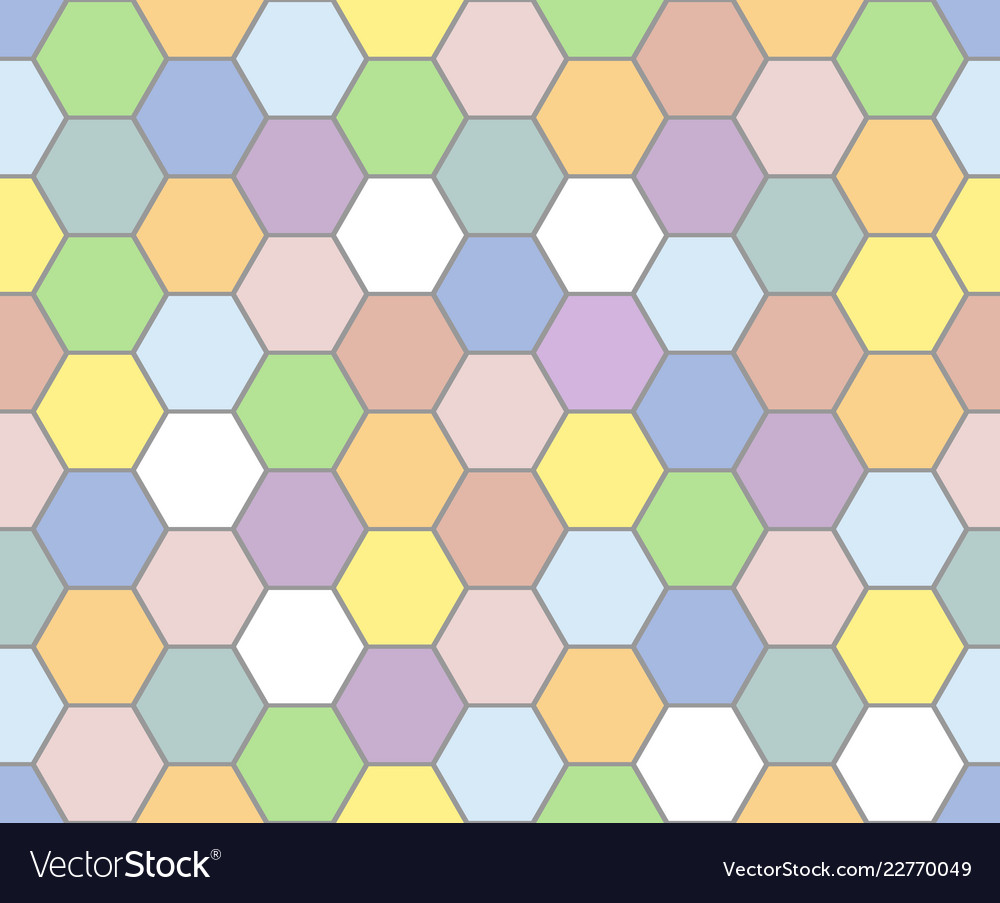 Colorful honeycomb pattern seamless background