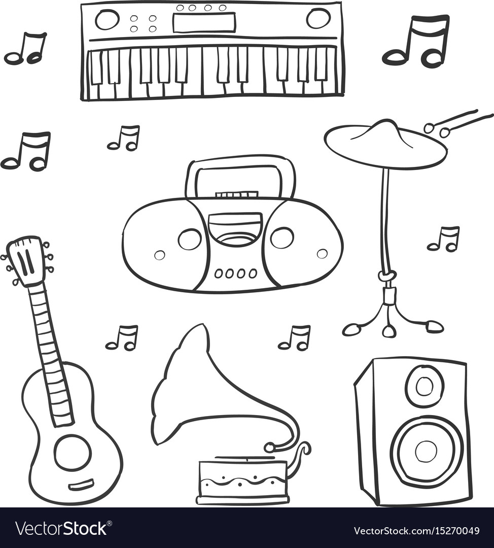 Doodle of music hand draw