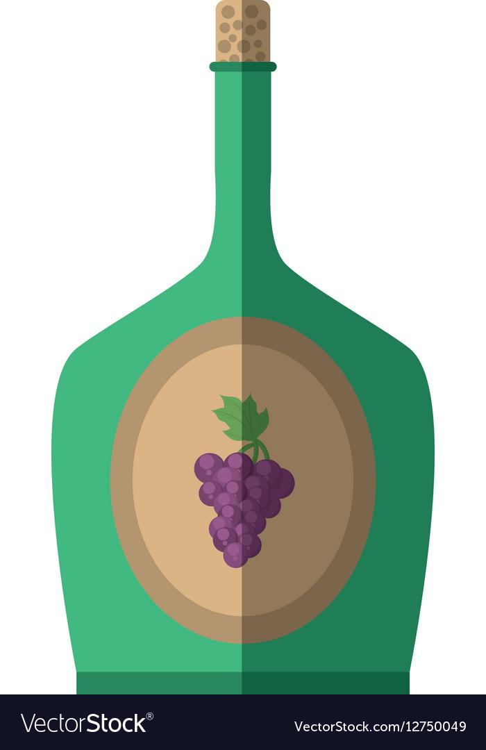 Green wine bottle grape celebration cork shadow
