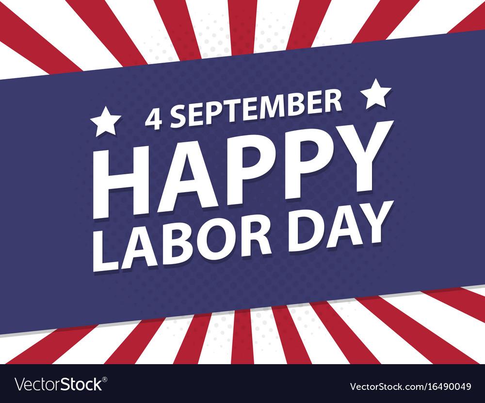 Happy labor day usa retro vintage poster