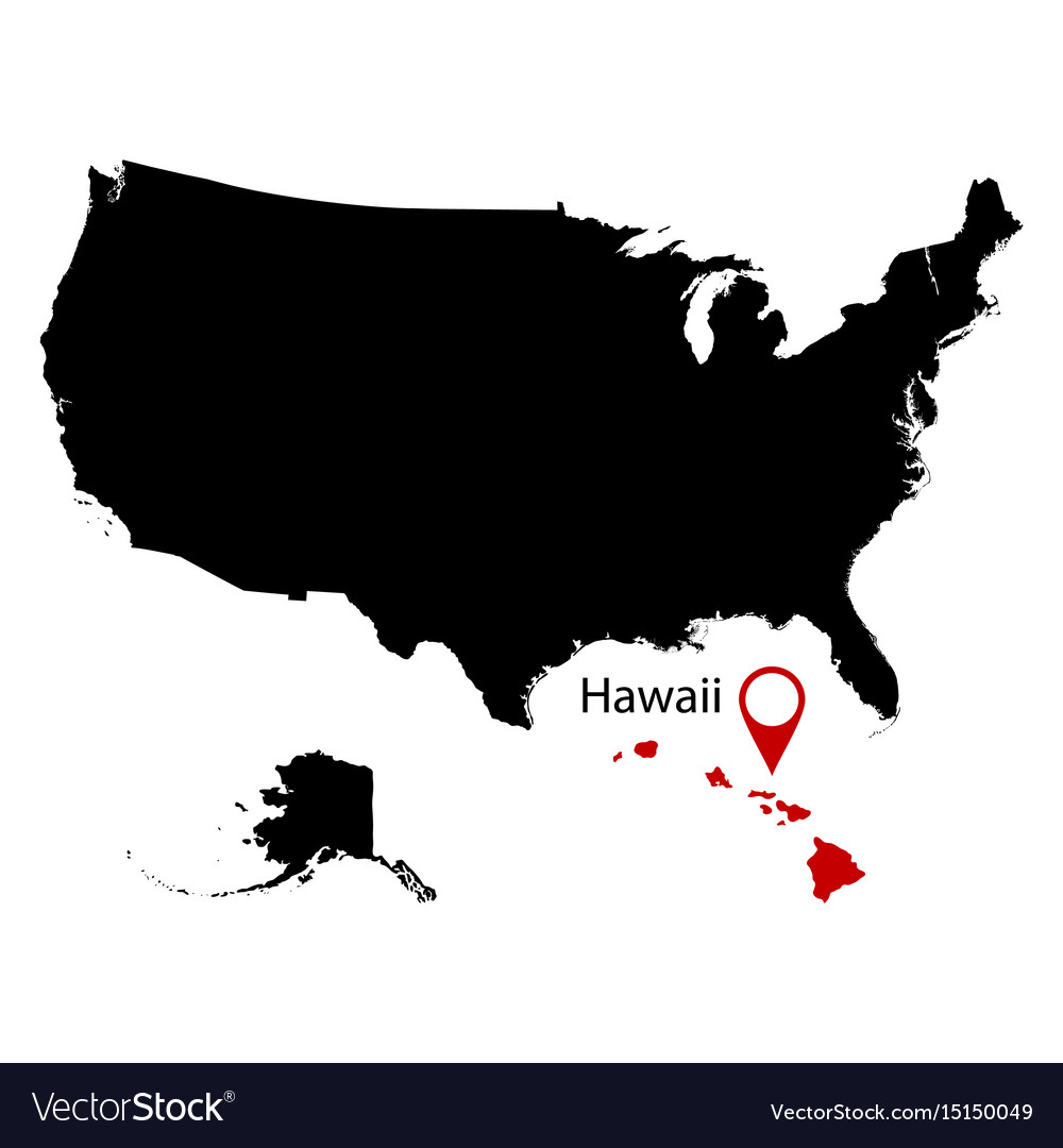 Map Of The Us State Of Hawaii Royalty Free Vector Image