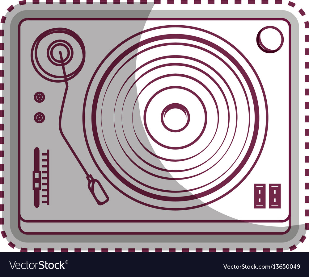 Player lp old music vector image