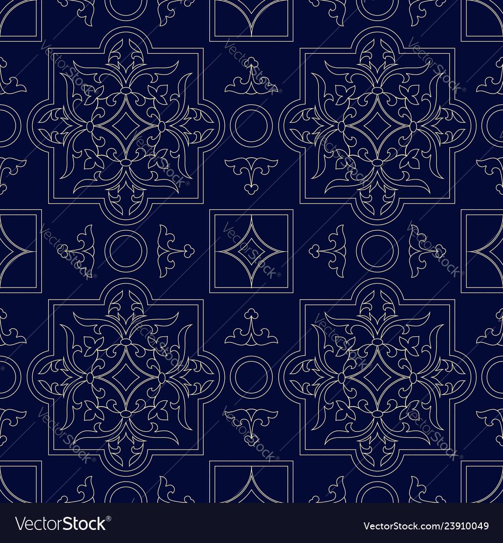 Retro seamless pattern classic background