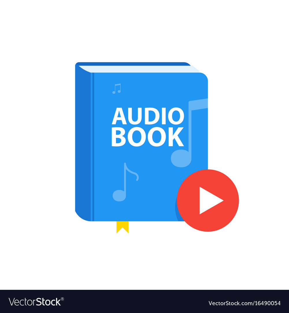 Audio book icon with download play button online