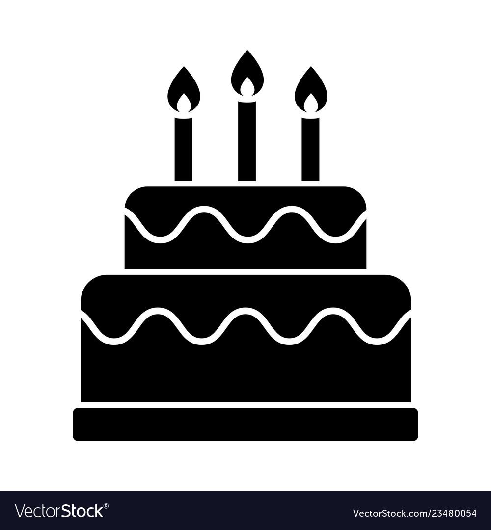 Magnificent Birthday Cake Icon Royalty Free Vector Image Vectorstock Funny Birthday Cards Online Kookostrdamsfinfo