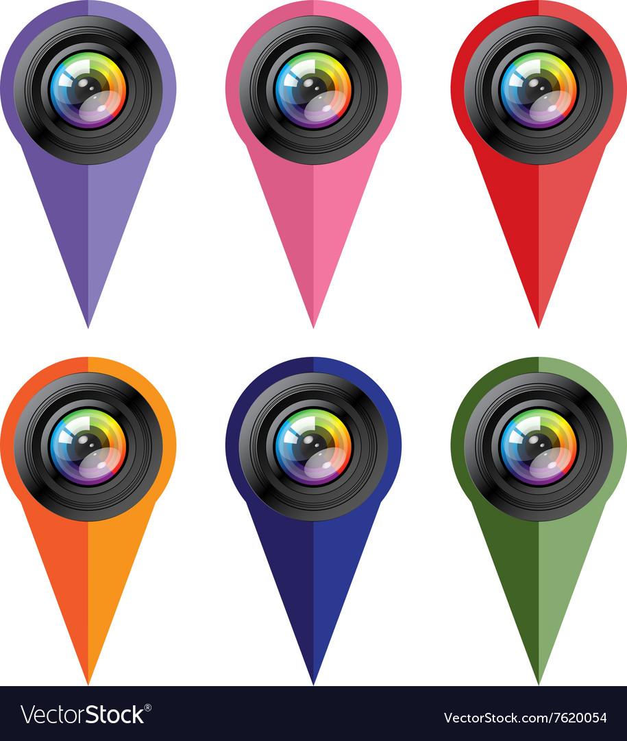 Camera icon set Photo icon