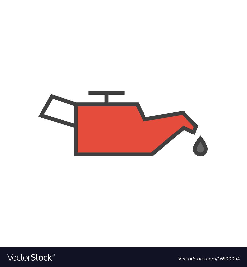 Car engine oil icon vector image