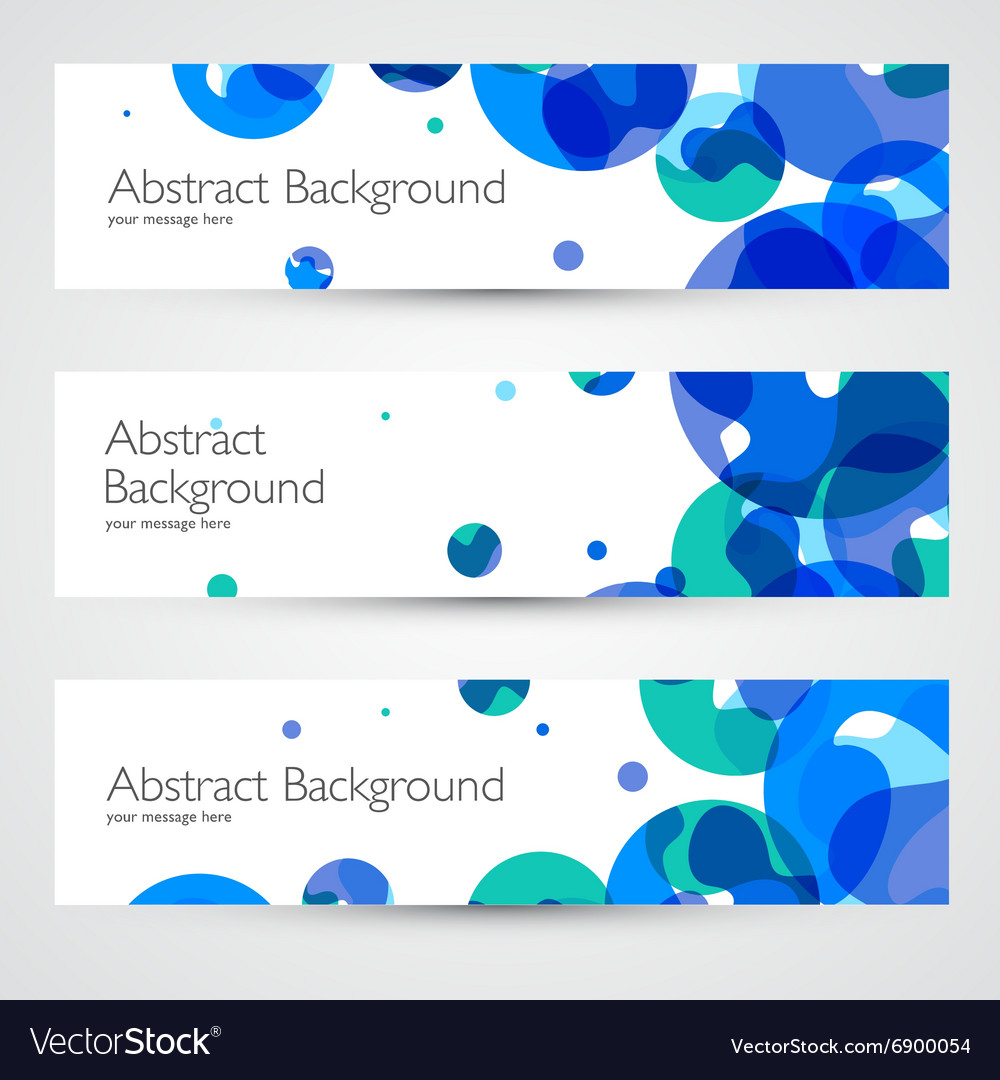 Colorful geometric abstract banners